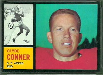 Clyde Conner 1962 Topps football card