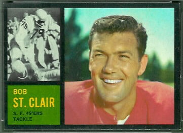 Bob St. Clair 1962 Topps football card