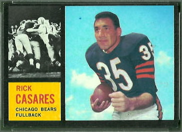 Rick Casares 1962 Topps football card