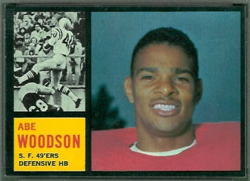 Abe Woodson 1962 Topps football card