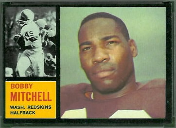 Bobby Mitchell 1962 Topps football card