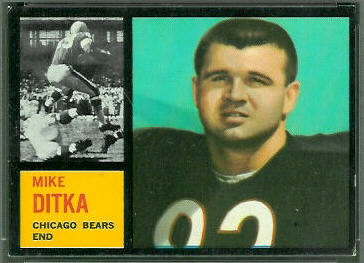 Mike Ditka 1962 Topps football card
