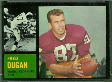 Fred Dugan 1962 Topps football card