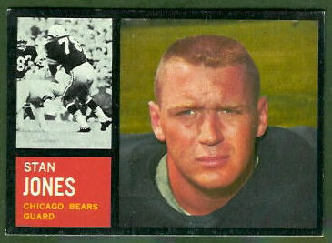 Stan Jones 1962 Topps football card