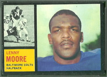 Lenny Moore 1962 Topps football card