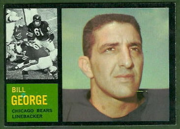 Bill George 1962 Topps football card