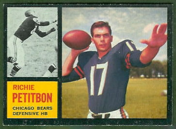 Richie Petitbon 1962 Topps football card