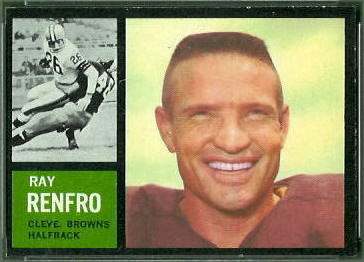 Ray Renfro 1962 Topps football card