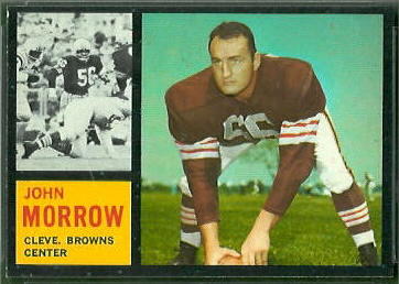 John Morrow 1962 Topps football card