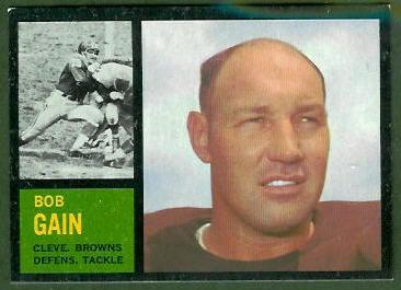 Bob Gain 1962 Topps football card