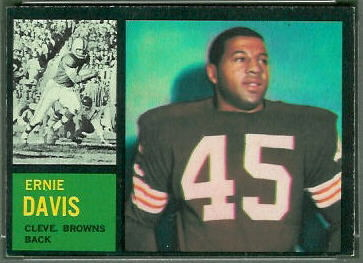 Ernie Davis 1962 Topps football card