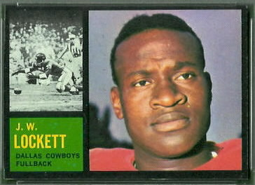 J.W. Lockett 1962 Topps football card