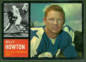 Bill Howton 1962 Topps football card