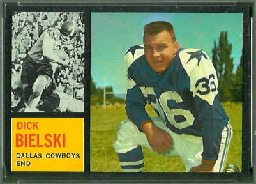 Dick Bielski 1962 Topps football card