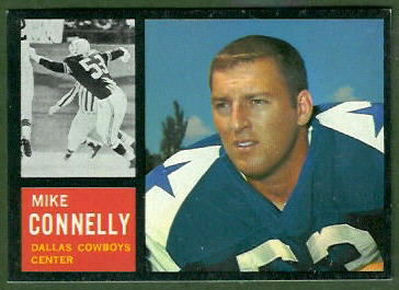 Mike Connelly 1962 Topps football card