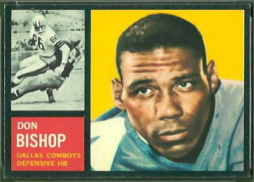 Don Bishop 1962 Topps football card