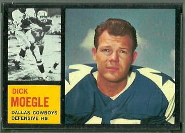 Dick Moegle 1962 Topps football card