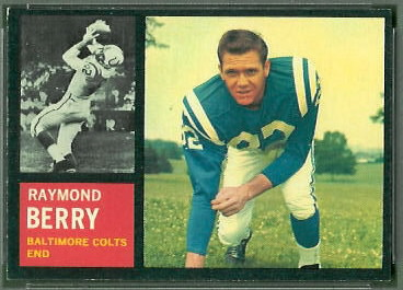Raymond Berry 1962 Topps football card
