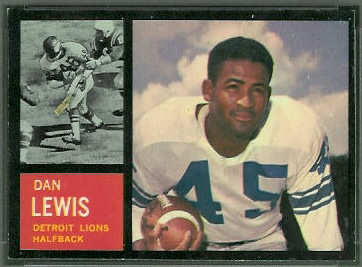 Dan Lewis 1962 Topps football card