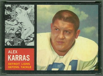 Alex Karras 1962 Topps football card