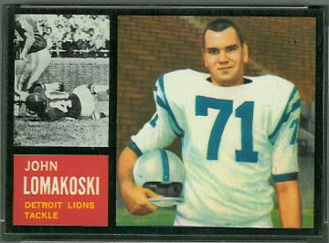John Lomakoski 1962 Topps football card