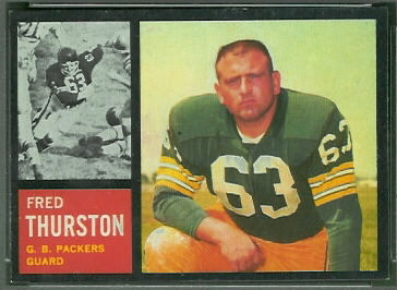 Fuzzy Thurston 1962 Topps football card