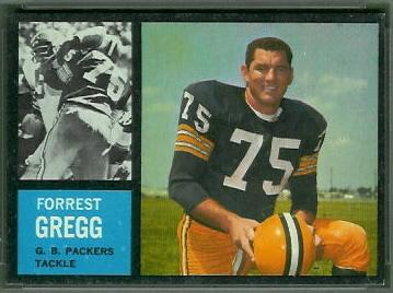 Forrest Gregg 1962 Topps football card
