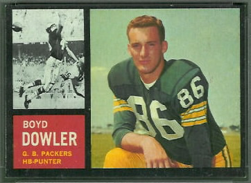 Boyd Dowler 1962 Topps football card