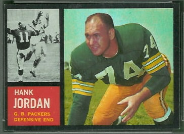 Henry Jordan 1962 Topps football card