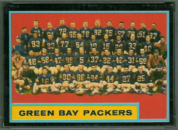 Green Bay Packers Team 1962 Topps football card