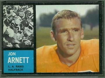 Jon Arnett 1962 Topps football card