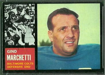 Gino Marchetti 1962 Topps football card