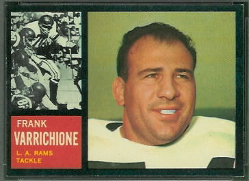 Frank Varrichione 1962 Topps football card