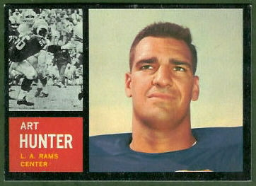 Art Hunter 1962 Topps football card