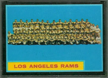 Los Angeles Rams Team 1962 Topps football card