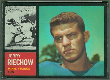 Jerry Reichow 1962 Topps football card