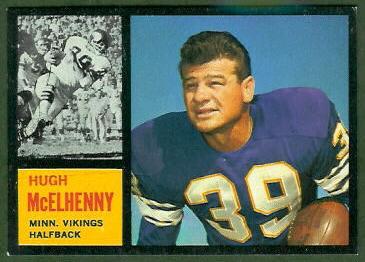 Hugh McElhenny 1962 Topps football card