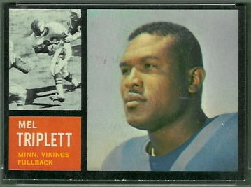 Mel Triplett 1962 Topps football card
