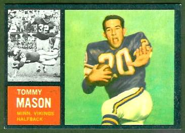 Tommy Mason 1962 Topps football card