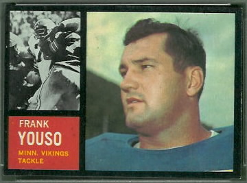 Frank Youso 1962 Topps football card