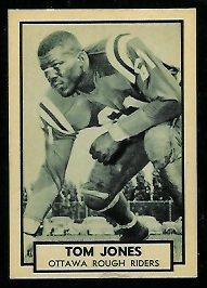 Tom Jones 1962 Topps CFL football card