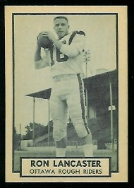 Ron Lancaster 1962 Topps CFL football card