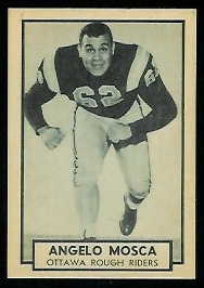 Angelo Mosca 1962 Topps CFL football card