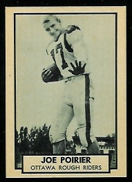 Joe Poirier 1962 Topps CFL football card