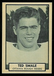 Ted Smale 1962 Topps CFL football card