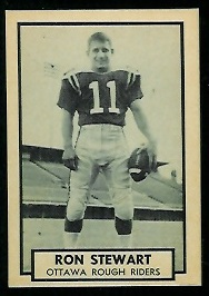 Ron Stewart 1962 Topps CFL football card