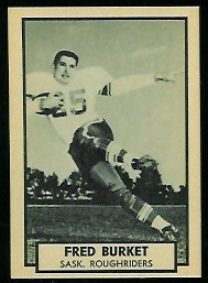 Ferd Burket 1962 Topps CFL football card