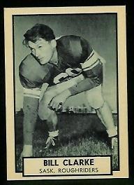 Bill Clarke 1962 Topps CFL football card