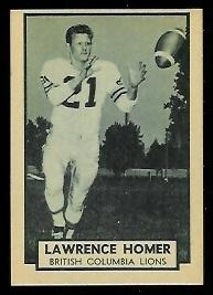 Sonny Homer 1962 Topps CFL football card