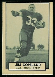 Jim Copeland 1962 Topps CFL football card